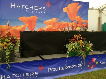 Proud Sponsors of the Shrewsbury Flower Show 2016
