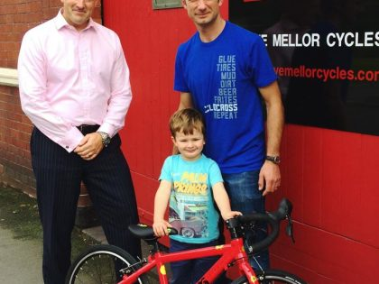 Shrewsbury Grand Prix competition winner collects dream bike