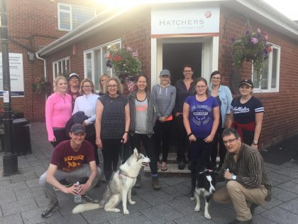 Hatchers Staff Complete Charity Walk