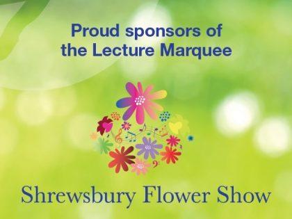Hatchers sponsor Shrewsbury Flower Show Lecture Marquee
